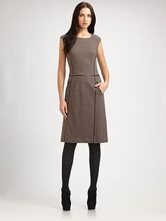 Lafayette 148 New York  Wool Flannel Dress