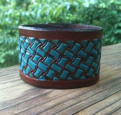 Turquoise leather cuff www.clickincowgirls.com