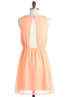 Peach You to the Punch Dress, #ModCloth