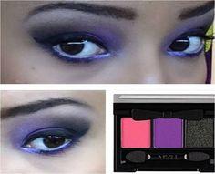Maquiagem feita pelo Beauty Team da NYX do Shopping Pantanal com a paleta Nighttime in Rio, da coleção Love on Rio