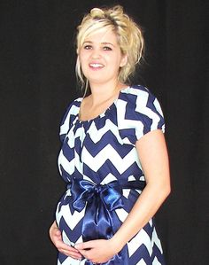 Cambria. ... Chic Maternity Hospital Gown-Dress in Designer fabric .....Custom or Ready to Ship $49