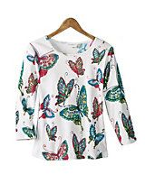 Women's 3/4-Sleeved Butterfly Tee | Norm Thompson; $50