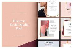 FITZROVIA Social Media Pack by Studio Standard on @creativemarket