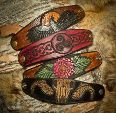 Leather Bracelets by Primitve on DeviantArt