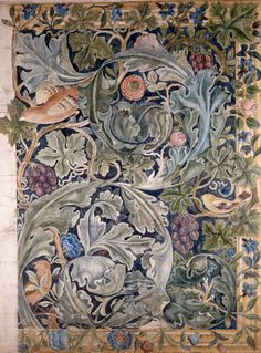 William Morris. Studying his work is where I had my string flower break through!  Look deep into the underlying construction of designs