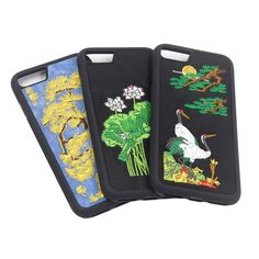 Embroidery gives this Mutural iPhone case a unique, vintage-inspired look. Formfitting construction with button, cord, and camera access. Phone Cover, Vintage Inspired, Iphone Cases, Embroidery, Wallet, Beautiful, Needlework, Pocket Wallet, Needlepoint