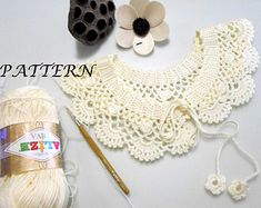 FREE Crochet Pattern Lace collar pattern by AccessoriesByAtlas