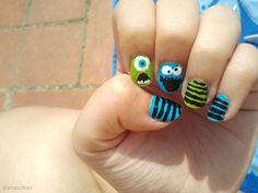 monsters inc nails :D