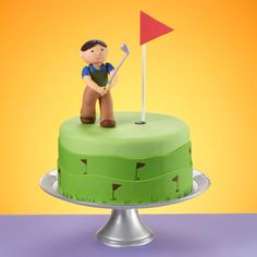 There?s no putting around with this cake. It?s a definite hole-in-one for Father?s Day or any celebration for the special golfers in your life. Our Ready-to-Use Rolled Fondant   and our fondant tools make decorating an easy drive down the green.
