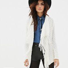 #Strickjacke #Jacket #Zopfmuster #white - jetzt online kaufen auf PURISD.de