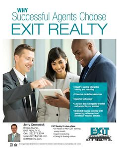Join EXIT Realty XL on Wednesday, March 28th at our West Bend office at 7pm for Career Night to learn WHY EXIT! Call or text for more info 262-573-9334 (all calls are confidential) Check us out in the meantime: https://www.exitrealtyxl.com/real-estate-careers/ #ExitRealtyXL #RealEstateCareer #RealEstateMentor #LOVEXIT #Maximize #Acceleration #RealEstateTraining #CaringandSharingCulture #JerryGrosenick #WHYEXIT
