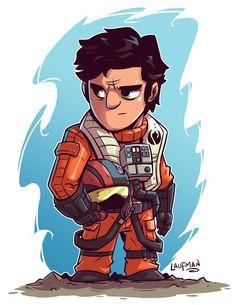 Chibi Star Wars Characters by Derek Laufman #starwars #chibi