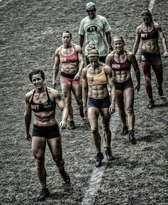 Crossfit set. Women. Abs.