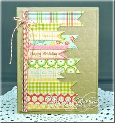 A card to use up some paper scraps.  Stamps from Great Impressions Stamps  By Cheryl (Shestamps)