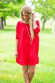 Piko half sleeve tunic American Red