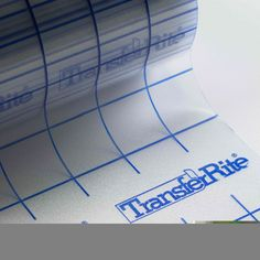 TransferRite 1310GL Clear Medium Tack Application tape with Liner, 10 Foot Roll