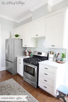 The Lettered Cottage Kitchen | Decorating the Countertops
