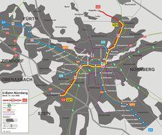 Operado pela VAG Nuremberg (Corporação de transporte de Nüremberg) e como parte do transporte público, Nüremberg conta com um sistema de Metrô (trem metropolitano de trânsito rápido - U-Bahn) composto por 3 linhas e 44 estações, completado por três linhas de trens suburbanos (S-Bahn) e bondes. Só pelo U-Bahn viajam mais de 320000 passageiros ao dia, e uns 112 milhões de passageiros ao año. Foi inaugurado dia 1 de março de 1972 com o percurso entre as estações de Langwasser Süd à…