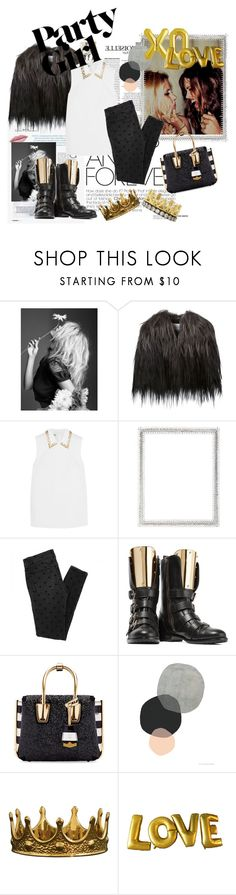 """Galentine's Partying"" by pooka-princess on Polyvore featuring F, Sonia Rykiel, Miu Miu, Lane Crawford, Giuseppe Zanotti, MCM, xO Design, Armenta, women's clothing and women"