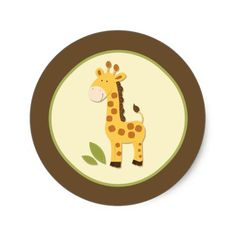Adorable Giraffe Envelope Seals or Toppers