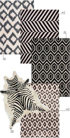 lulu and georgia nursery area rug round up // neutral black and white