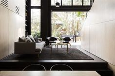 Architect Eva-Marie Prineas excavated under an Newtown terrace in order to connect the living areas to the back garden. Interior Design Examples, Interior Design Inspiration, Newtown House, Living Area, Living Spaces, Living Room, Victorian Terrace, Minimalism, Architecture