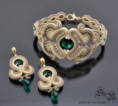 Set of bracelet and earringsSoutache ♡ by SBjewelrySoutache on Etsy