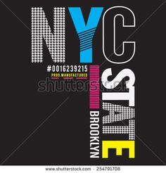 NYC Brooklyn typography, t-shirt graphics, vectors - stock vector Nyc, Lettering Design, Logo Design, Brooklyn, Design Girl, Boys T Shirts, Apparel Design, Shirt Designs, Poster Prints