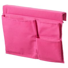 IKEA STICKAT Bed pocket Pink 39 x 30 cm Clever storage solution that you can hang on our children's beds. Bed Pocket, Curtain Wire, Kallax Shelf Unit, Loft Bed Frame, Brimnes, Ikea Family, Bed Tent, Shoe Organizer