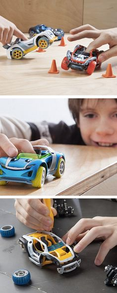 Modarri cars are the ultimate toy car. Sleek design, working suspension, and responsive steering. Kids power, steer, and stop using a single finger, experiencing the real mechanics first hand.