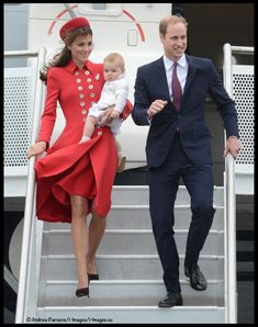 William, Kate and George arrive in New Zealand to start their 3-week Royal Tour, April 7, 2014.