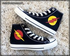 The Flash and Reverse Flash Custom Converse / by FeslegenDesign