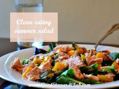 This summer salad is designed with summer in mind. It uses in-season produce to achieve delicious flavors. Add this recipe to your clean eating rotation!