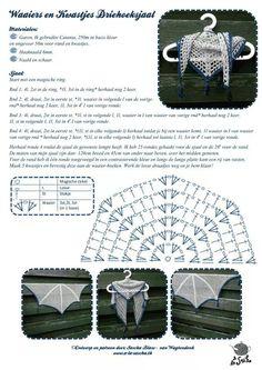 patroon driehoek-sjaal
