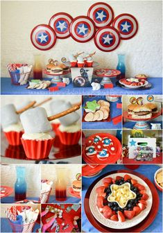 Party food, decorating ideas, and fun activities for a Marvel Avengers Easter party #disneyeaster #ad