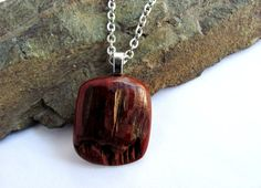 Red Cedar Wood Necklace Natural Driftwood Pendant Eco by Hendywood, $19.00