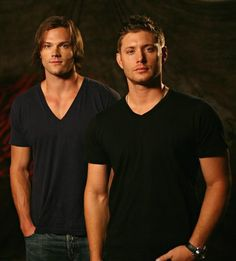 Jared Padalecki and Jensen Ackles.    Seriously one of the best moments of my life meeting Jared. Ugh. My Supernatural boys :)