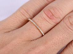 Full Eternity diamond THIN Wedding ringAnniversary by milegem