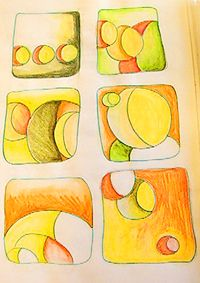 Lesson Playing with Shapes Art Journal assignment - practice art! Sketchbook Assignments, Art Assignments, Art Activities For Kids, Art For Kids, Elements And Principles, Shape Art, School Art Projects, Middle School Art, Sketchbook Ideas