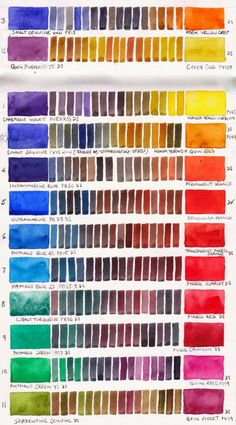 complementary colour scales...every colour within each row matches expertly with any colour in the same row. GET CREATIVE! TAKE CHANCES WITH COLOUR!  Jane Blundell: Colour exploration - a single pigment colour wheel