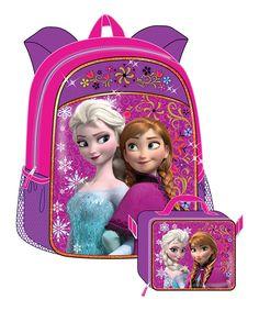 Look at this #zulilyfind! Purple Frozen Backpack & Lunch Bag Set by Frozen #zulilyfinds