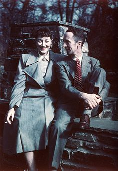 Norman Rockwell with his wife Mary in Arlington, VT