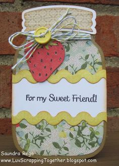For My Sweet Friend ~ Scrappy Moms Stamps August Release