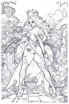 detailed adult coloring fairytales - Google Search