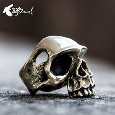 Rock on! Get in touch with your inner Keith Richards with a stylish skull ring.