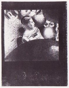 The breath which leads all all creatures is also in the spheres - Odilon Redon - WikiArt.org