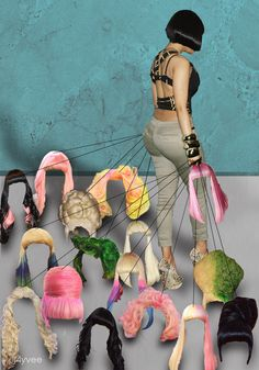 Nicki Minaj and her wigs