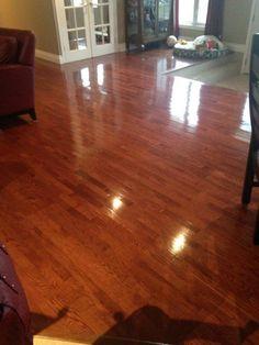 "Homemade Hardwood Floor Cleaner For Sparkling Floors. Take your hardwood floors from dull to ""oh la la!"" with this homemade hardwood floor cleaner."