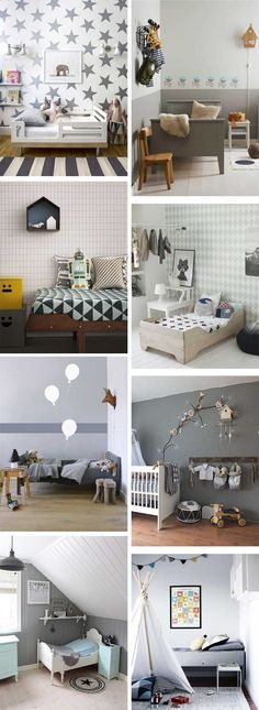 Ideas  Inspiration: Grey kids rooms