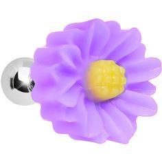 16 Gauge Purple Desert Cactus Flower Cartilage Tragus Earring